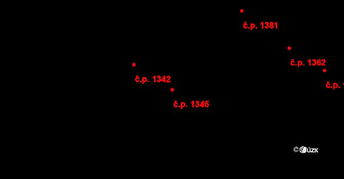 Kladno 1345 na parcele st. 5521 v KÚ Kladno, Katastrální mapa