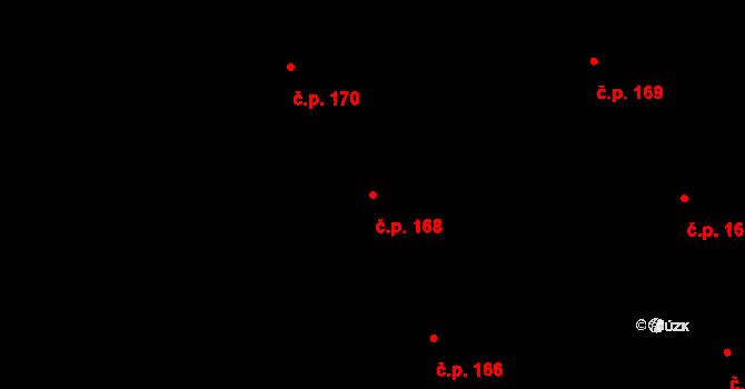 Nová Ves u Nového Města na Moravě 168 na parcele st. 1551/23 v KÚ Nová Ves u Nového Města na Moravě, Katastrální mapa
