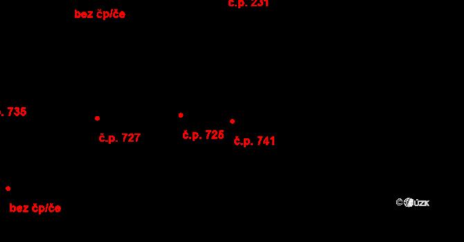 Jaktař 741, Opava na parcele st. 1130/5 v KÚ Jaktař, Katastrální mapa