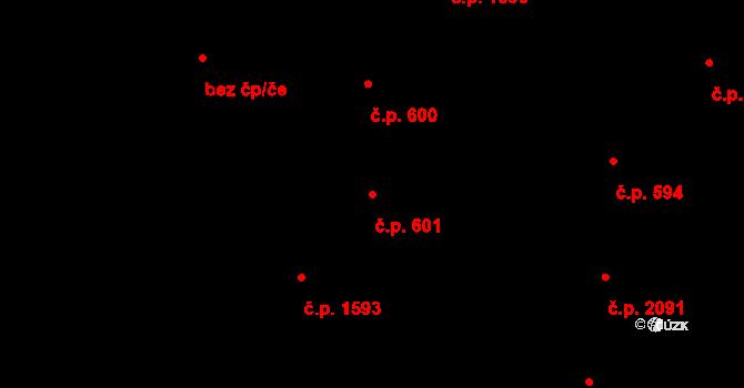 Nové Město 601, Praha na parcele st. 2105 v KÚ Nové Město, Katastrální mapa