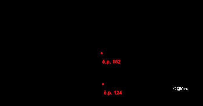 Lučice 152 na parcele st. 176 v KÚ Lučice, Katastrální mapa