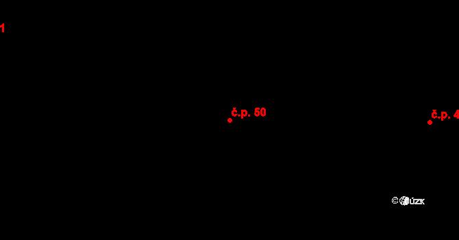 Staré Nechanice 50, Nechanice na parcele st. 49 v KÚ Staré Nechanice, Katastrální mapa