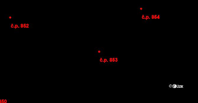 Nové Město 853, Praha na parcele st. 588 v KÚ Nové Město, Katastrální mapa