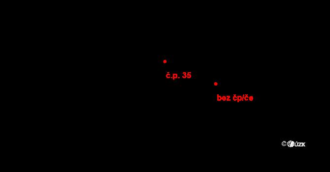 Vír 35 na parcele st. 61/1 v KÚ Vír, Katastrální mapa