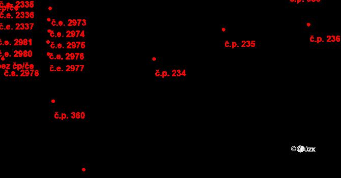 Mladcová 234, Zlín na parcele st. 327/1 v KÚ Mladcová, Katastrální mapa