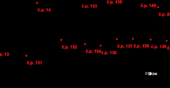 Vodňany I 134, Vodňany na parcele st. 84 v KÚ Vodňany, Katastrální mapa