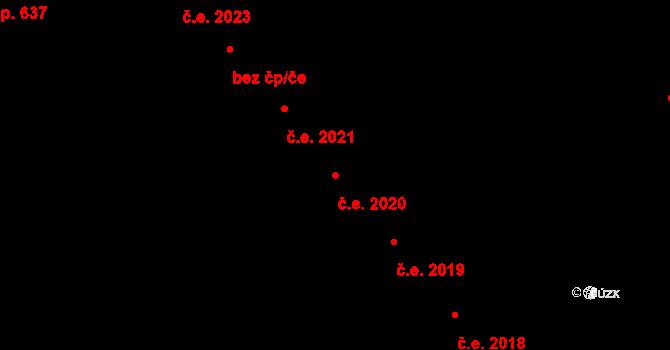 Krásné Pole 2020, Ostrava na parcele st. 2229/36 v KÚ Krásné Pole, Katastrální mapa