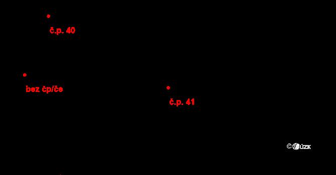 Brod nad Tichou 41 na parcele st. 71 v KÚ Brod nad Tichou, Katastrální mapa