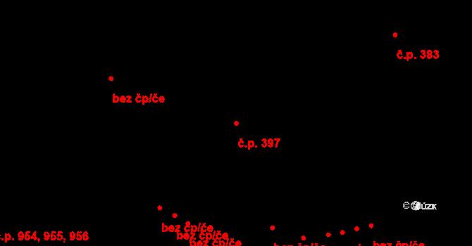 Hodolany 397, Olomouc na parcele st. 564/2 v KÚ Hodolany, Katastrální mapa