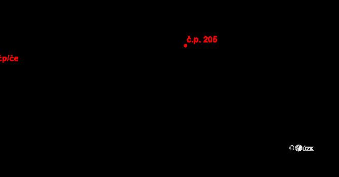 Mistrovice 206 na parcele st. 41/3 v KÚ Mistrovice nad Orlicí, Katastrální mapa