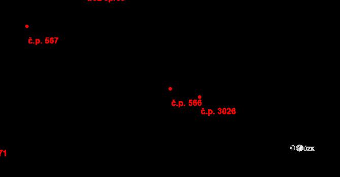 Vítkovice 566, Ostrava na parcele st. 190/9 v KÚ Vítkovice, Katastrální mapa