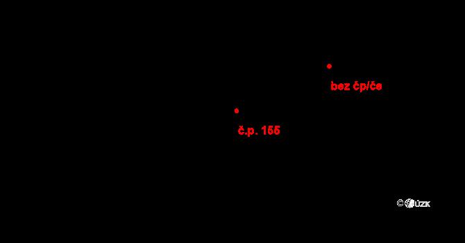 Nedvězí 155, Olomouc na parcele st. 210 v KÚ Nedvězí u Olomouce, Katastrální mapa