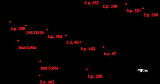 Vamberk 483 na parcele st. 894 v KÚ Vamberk, Katastrální mapa