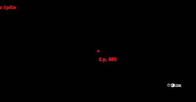 Polabiny 560, Pardubice na parcele st. 8776 v KÚ Pardubice, Katastrální mapa