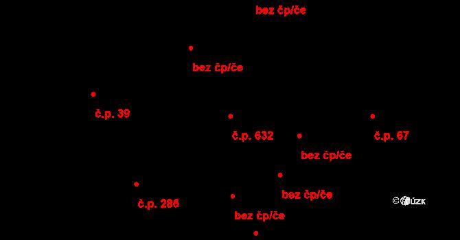 Liberec XI-Růžodol I 632, Liberec na parcele st. 342/2 v KÚ Růžodol I, Katastrální mapa