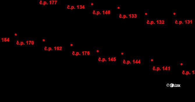 Žižkov 145, Praha na parcele st. 824 v KÚ Žižkov, Katastrální mapa