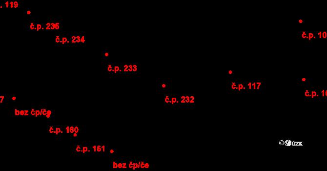 Nosislav 232 na parcele st. 742 v KÚ Nosislav, Katastrální mapa