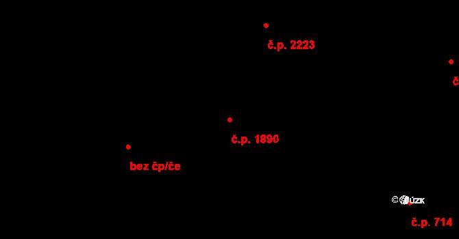 Rychvald 1890 na parcele st. 6108/2 v KÚ Rychvald, Katastrální mapa