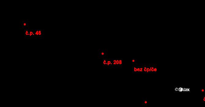 Plavsko 208 na parcele st. 322 v KÚ Plavsko, Katastrální mapa