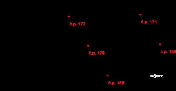 Nová Ves u Nového Města na Moravě 170 na parcele st. 1551/27 v KÚ Nová Ves u Nového Města na Moravě, Katastrální mapa