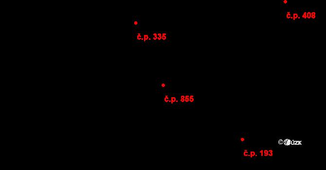 Bolatice 855 na parcele st. 518 v KÚ Bolatice, Katastrální mapa