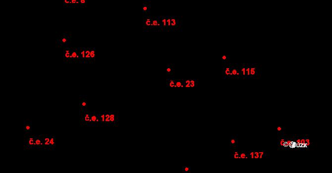Davle 23 na parcele st. 878 v KÚ Davle, Katastrální mapa