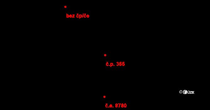 Všebořice 355, Ústí nad Labem na parcele st. 690/3 v KÚ Všebořice, Katastrální mapa