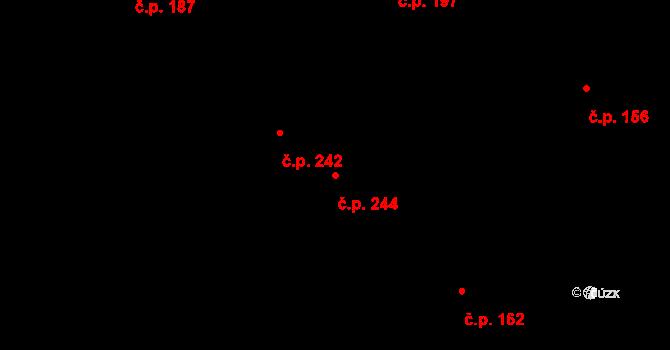 Slavonice 244 na parcele st. 681 v KÚ Slavonice, Katastrální mapa