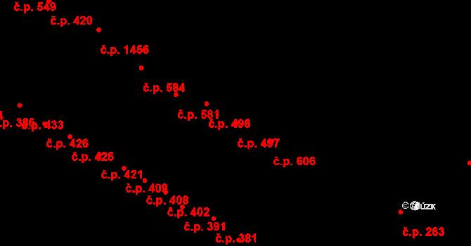Husovice 497, Brno na parcele st. 1632 v KÚ Husovice, Katastrální mapa