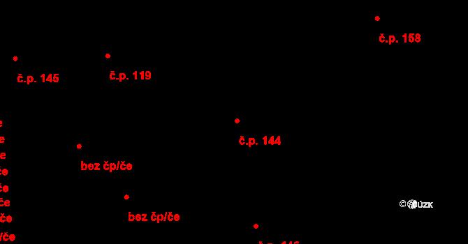 Stěbořice 144 na parcele st. 500 v KÚ Stěbořice, Katastrální mapa