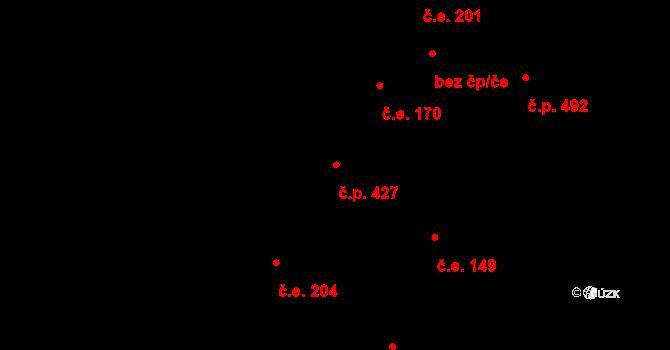 Lhota 427, Plzeň na parcele st. 651/17 v KÚ Lhota u Dobřan, Katastrální mapa