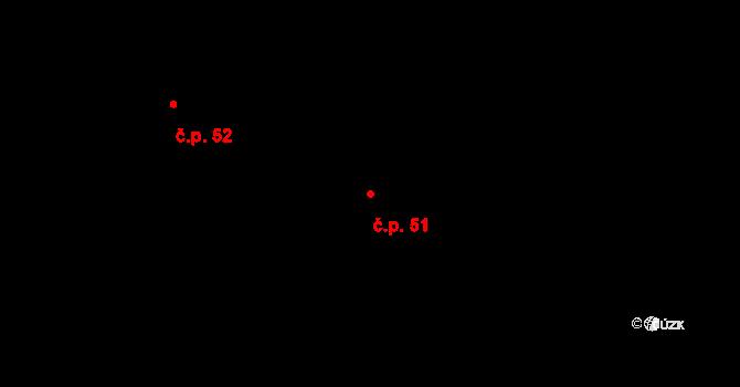 Staré Nechanice 51, Nechanice na parcele st. 51 v KÚ Staré Nechanice, Katastrální mapa