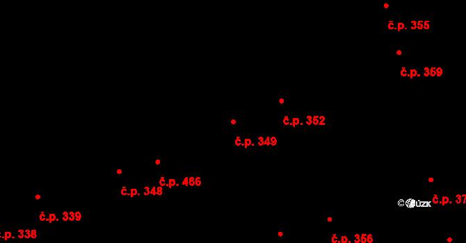 Holice 349, Olomouc na parcele st. 1214 v KÚ Holice u Olomouce, Katastrální mapa