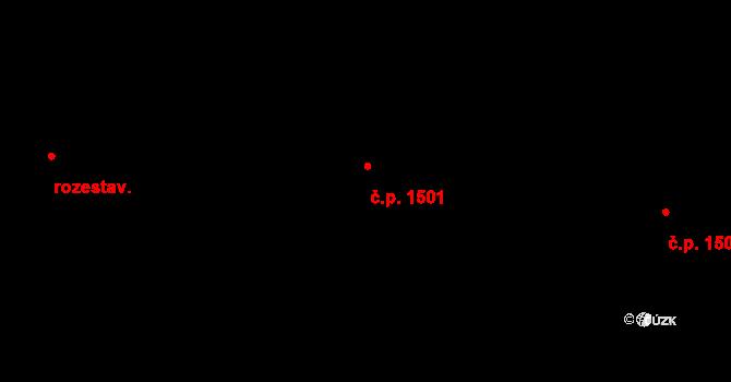 Michle 1501, Praha na parcele st. 1307/51 v KÚ Michle, Katastrální mapa