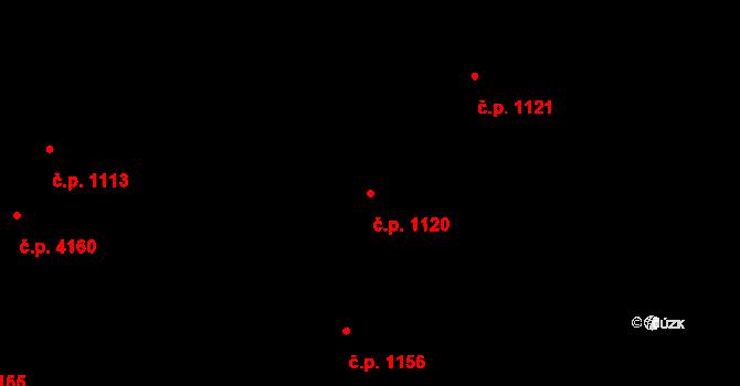Jihlava 1120 na parcele st. 5435/10 v KÚ Jihlava, Katastrální mapa