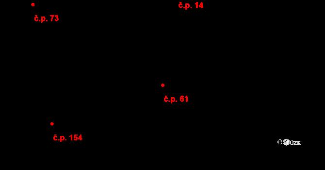 Lázně Kundratice 61, Osečná na parcele st. 27 v KÚ Lázně Kundratice, Katastrální mapa