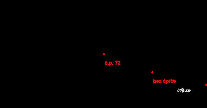 Jaroslav 72 na parcele st. 142 v KÚ Jaroslav, Katastrální mapa
