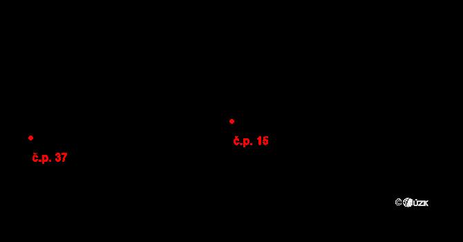 Rodvínov 15 na parcele st. 21/1 v KÚ Rodvínov, Katastrální mapa
