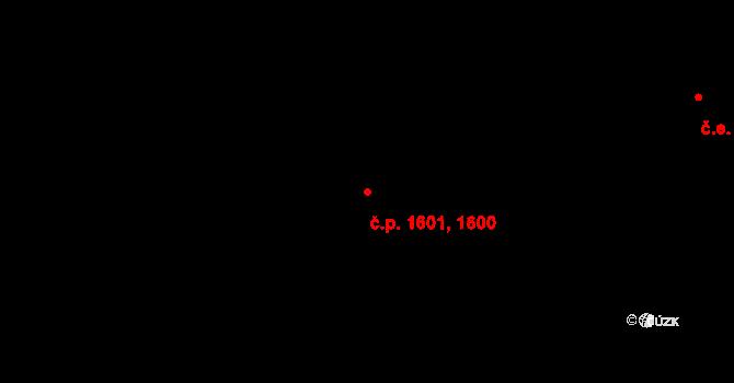 Jirkov 1600,1601 na parcele st. 3670/65 v KÚ Jirkov, Katastrální mapa