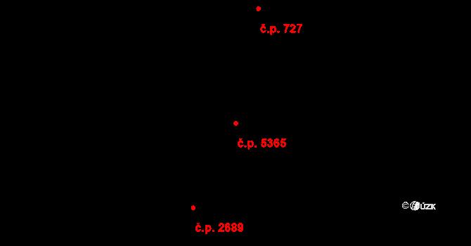 Zlín 5365 na parcele st. 8228 v KÚ Zlín, Katastrální mapa