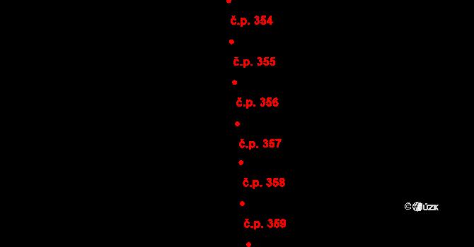 Staré Čívice 357, Pardubice na parcele st. 488 v KÚ Staré Čívice, Katastrální mapa