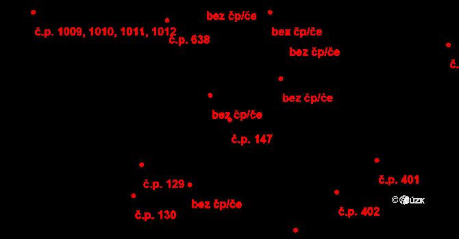 Úpice 147 na parcele st. 433/2 v KÚ Úpice, Katastrální mapa