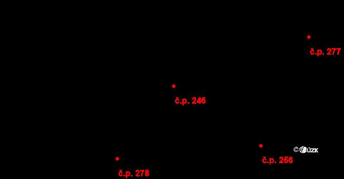 Vtelno 246, Most na parcele st. 472 v KÚ Vtelno, Katastrální mapa
