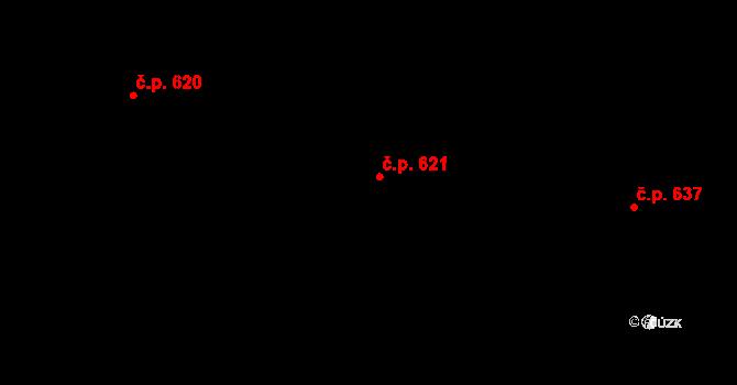 Mladcová 621, Zlín na parcele st. 1076 v KÚ Mladcová, Katastrální mapa