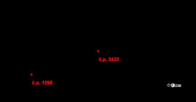 Zlín 2433 na parcele st. 2624 v KÚ Zlín, Katastrální mapa