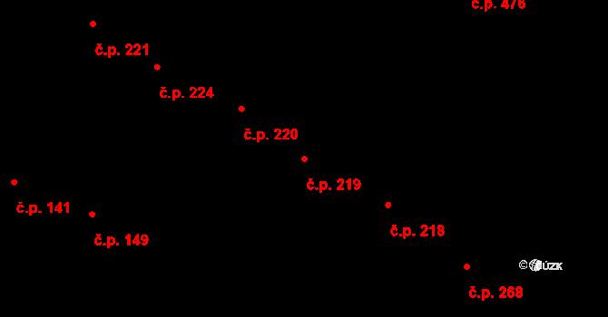 Řevničov 219 na parcele st. 251 v KÚ Řevničov, Katastrální mapa