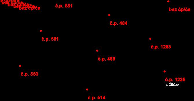 Hradec Králové 485 na parcele st. 565 v KÚ Hradec Králové, Katastrální mapa