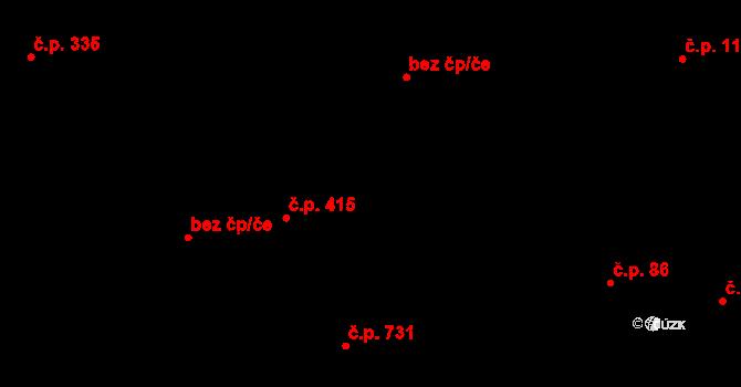 Polešovice 374 na parcele st. 71/1 v KÚ Polešovice, Katastrální mapa