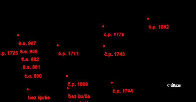 Aš 1743 na parcele st. 1920 v KÚ Aš, Katastrální mapa