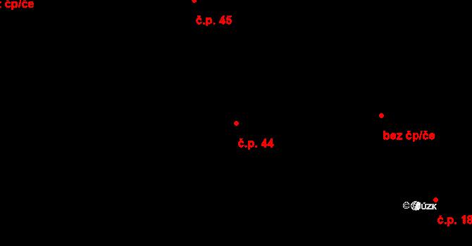 Kladno 44 na parcele st. 5680 v KÚ Kladno, Katastrální mapa